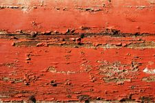 Threadbare Red Wooden Plank