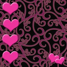 Free Pink Hearts Background Stock Photo - 8026250