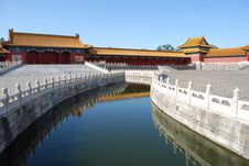 Free Forbidden City Water Way Royalty Free Stock Photo - 8026965