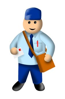 Free Mailman Or Postman Stock Photography - 8027182