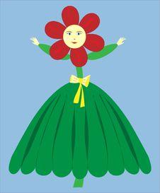 Free Flower Girl Vector - Illustration Stock Photos - 8027293