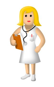 Free Nurse With Stethoscope Royalty Free Stock Image - 8027456