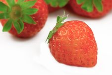 Free Strawberry Isolated On White Royalty Free Stock Images - 8027999