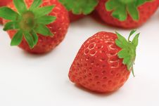 Free Strawberry Isolated On White Stock Photos - 8028003