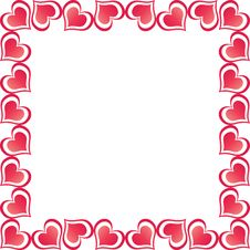 Free Valentine Hearts Border Royalty Free Stock Photography - 8028617