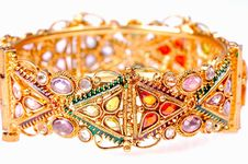 Gold Bracelet Royalty Free Stock Images