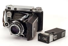 Free Two Old Photo Cameras Stock Photography - 8029292