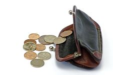 Free Change Coin And Purse Royalty Free Stock Images - 8029299