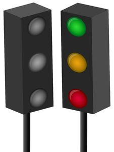 Free Traffic Light Royalty Free Stock Photography - 8029347