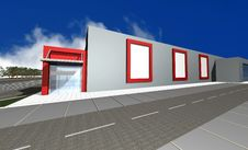 Free 3D Render Of Modern Business Center Royalty Free Stock Photos - 8029478