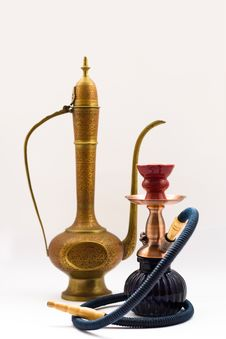 Free Hookah And Jug Royalty Free Stock Images - 8029689