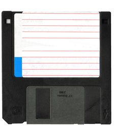 Free Black Floppy Disk Stock Photography - 8029792