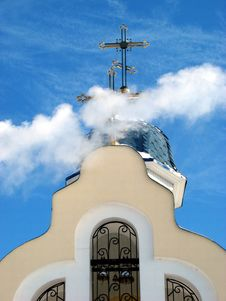 Free Church Crosses Inside White Cloud 1 Stock Photos - 8029813