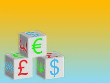 Free Currency Symbols On Boxes Stock Image - 8029841