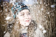Free Woman And Snow Stock Photos - 8029933