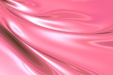 Silky Pink Fabric Royalty Free Stock Image