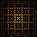 Free Glowing Orange Circles Background Royalty Free Stock Image - 8031886