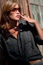 Free Beautiful Woman Smoking Stock Photo - 8033940