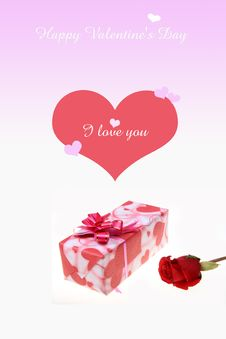 Free Roses With Gift Box Stock Photos - 8030063