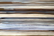 Old Folders In Office Background Royalty Free Stock Photography