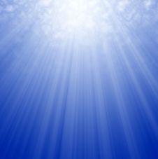 Sunlight Underwater Stock Photography