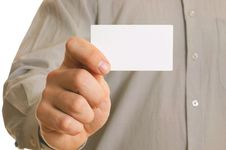 Free Business Man Holding Visiting Card Stock Photo - 8031090