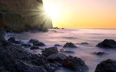 Free Sunrise At Seaside Stock Images - 8031164
