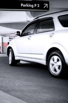 Free Car Enter The Parking Lot Stock Image - 8031441