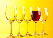 Free Wine Glasses Stock Image - 8031781