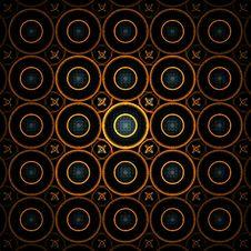 Glowing Orange Circles Background Royalty Free Stock Image