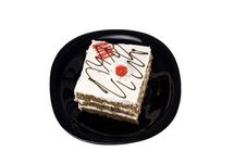 Free Cake With Cherry Stock Photography - 8032042
