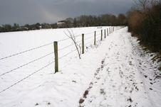 Free Snowy Field Angry Sky Stock Photos - 8032133