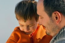 Free Father And Son Portrait Stock Photography - 8032592