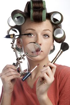 Free A Housewife With A Magniglass Royalty Free Stock Images - 8032599