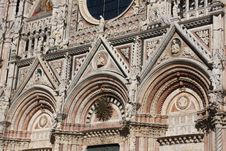 Free Architectural Details Of Cathedral In Siena,Italy Stock Image - 8032651