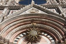Architectural Details Of Cathedral In Siena,Italy Royalty Free Stock Photo