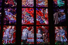 Free Stained-glass Window In St.Vitus Cathedral Royalty Free Stock Photography - 8032687