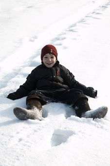 Free A Boy In Snow Royalty Free Stock Photos - 8033158