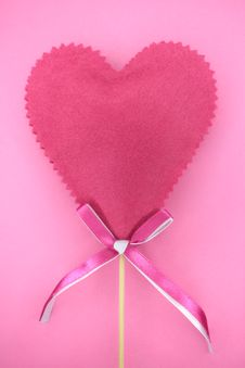 Free Pink Heart Stock Photo - 8033220