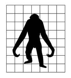 Free Vector Silhouette Of The Gorilla Stock Photography - 8033622