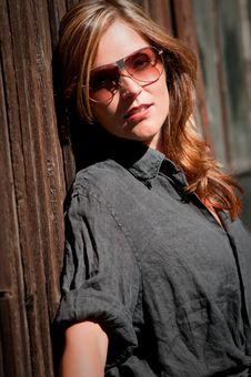 Free Sunny Portrait Of Beautiful Woman Royalty Free Stock Photos - 8034038