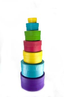 Free Colored Boxes In The Column Royalty Free Stock Photos - 8034268