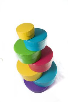 Free Colored Boxes In The Column Stock Photo - 8034270
