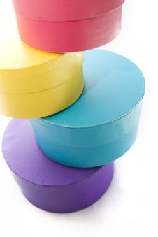 Free Colored Boxes In The Column Royalty Free Stock Image - 8034276