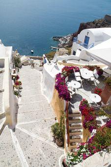 Free Small Street On Santorini Island Stock Photography - 8034322