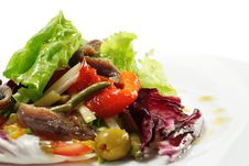 Free Salad With Anchovy Royalty Free Stock Images - 8034509