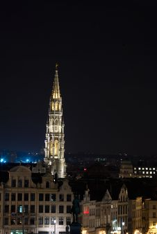 Bruxelles At Night Stock Image