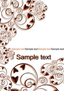 Free Orange And Black Flourishes Decoration Stock Image - 8034701