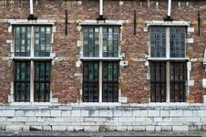 Free Three Windows Of The Old Factory Royalty Free Stock Image - 8034766