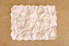 Free Old Crumpled Paper Copy Space Royalty Free Stock Image - 8035266